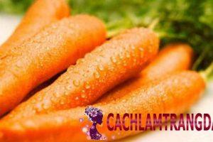Hướng dẫn làm trắng da với cà rốt để có làn da trẻ trung