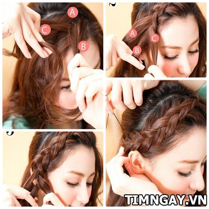 Hướng dẫn cách tết tóc mái dễ thương cho bạn gái 1