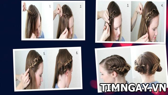 Hướng dẫn cách tết tóc mái dễ thương cho bạn gái 2