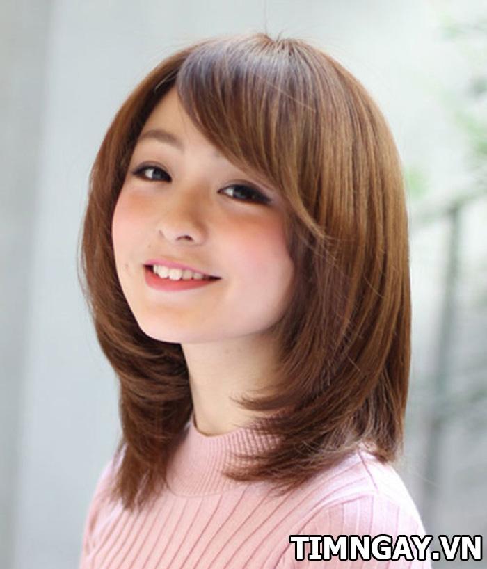 Mái dài phù hợp với khuôn mặt nào? Kiểu tóc mái dành cho từng khuôn mặt 4