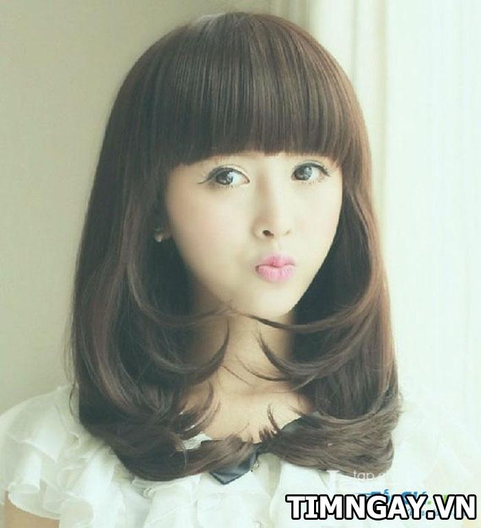 Những kiểu tóc mái ngố cho các cô nàng thêm trẻ trung, đáng yêu 3