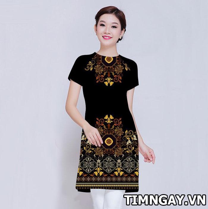 Những mẫu áo cách tân mới nhất năm 2017 của tà áo dài truyền thống 1
