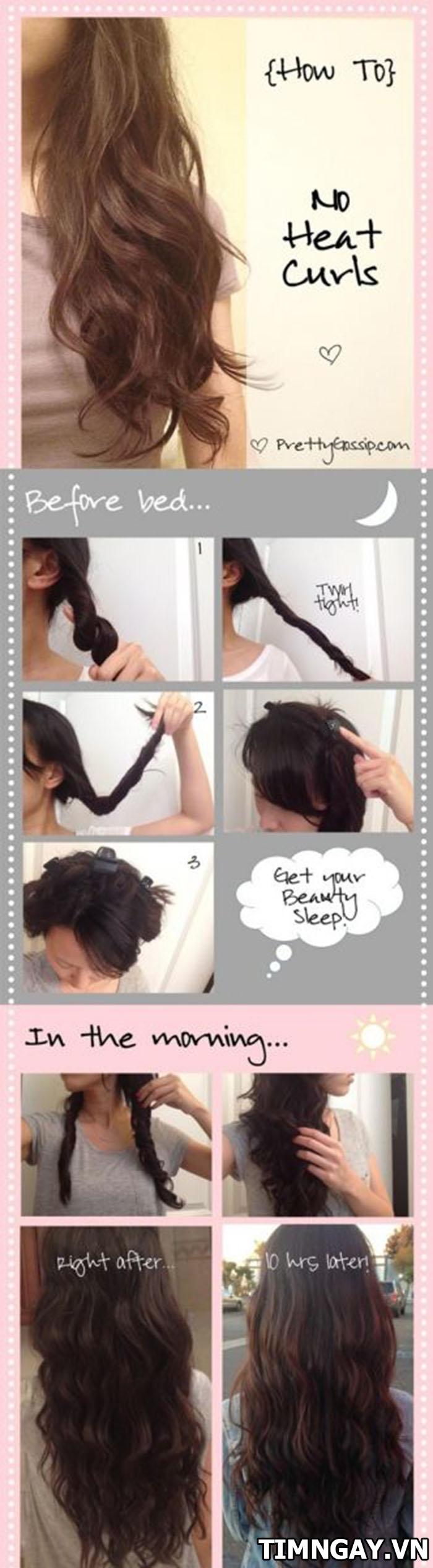 3 cách làm tóc xoăn đuôi tại nhà đẹp hoàn hảo cho bạn gái 3