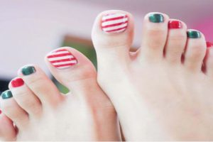 Các mẫu móng chân đẹp dành cho cô nàng sành điệu