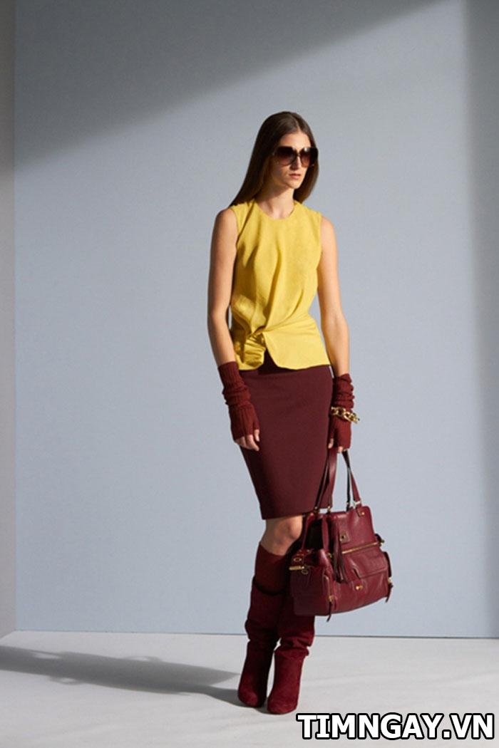 Chân váy màu nâu kết hợp với áo màu gì đẹp nhất? 1