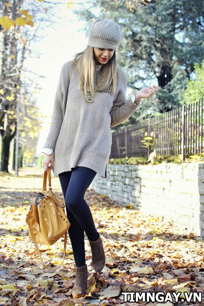 Gợi ý cách mix áo len nữ dáng dài hợp với mọi vóc dáng 1