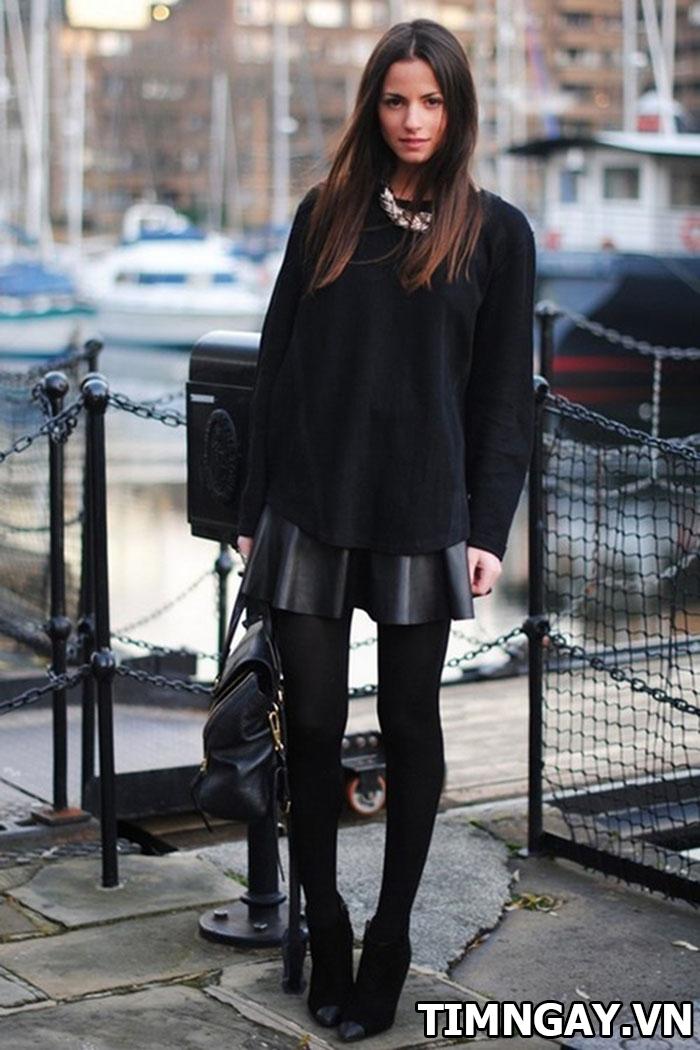 Gợi ý cách mix áo len nữ dáng dài hợp với mọi vóc dáng 3