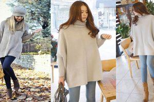 Gợi ý cách mix áo len nữ dáng dài hợp với mọi vóc dáng