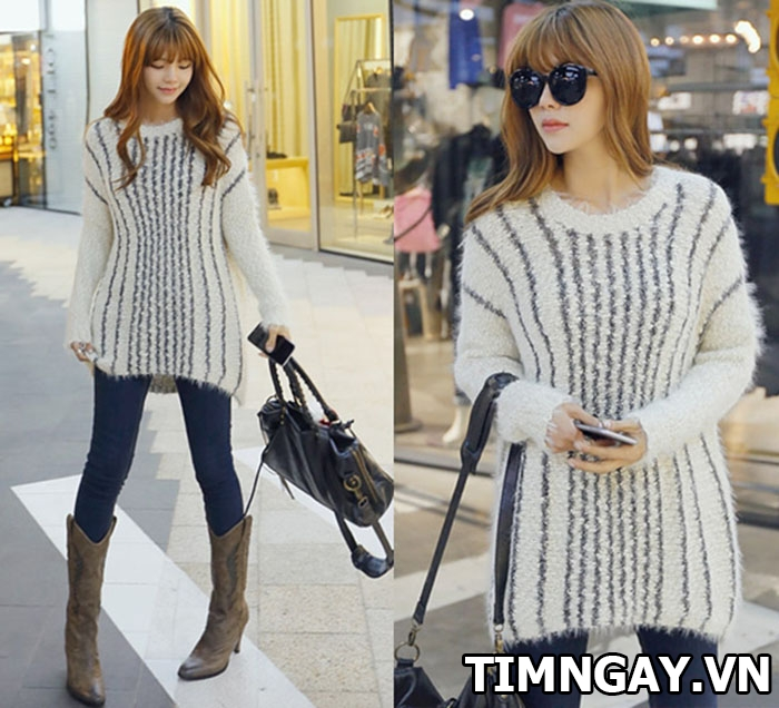 Gợi ý cách mix áo len nữ dáng dài hợp với mọi vóc dáng 4