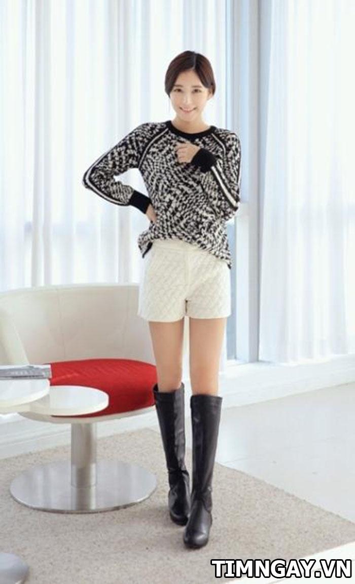 Gợi ý cách mix áo len nữ dáng dài hợp với mọi vóc dáng 5