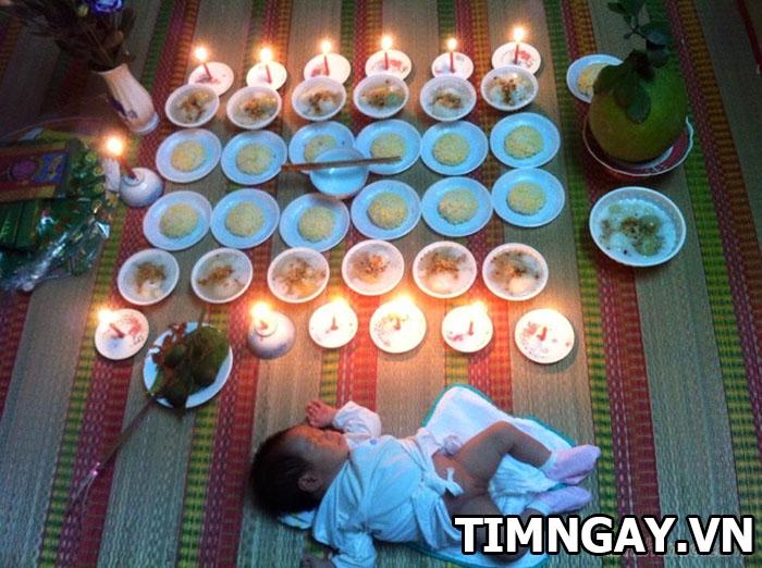 Hướng dẫn chi tiết cách chuẩn bị đồ làm lễ cúng đầy tháng cho bé trai 2