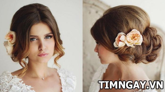 Những kiểu tóc dành cho cô dâu mặt tròn xinh tươi và nổi bật nhất 3