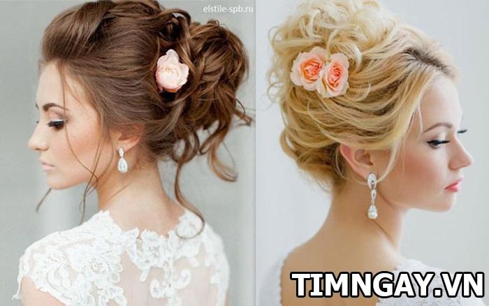 Những kiểu tóc dành cho cô dâu mặt tròn xinh tươi và nổi bật nhất 5