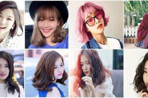 Những kiểu tóc ngắn uốn xoăn nhẹ kiểu truyền thống cho bạn gái trẻ trung