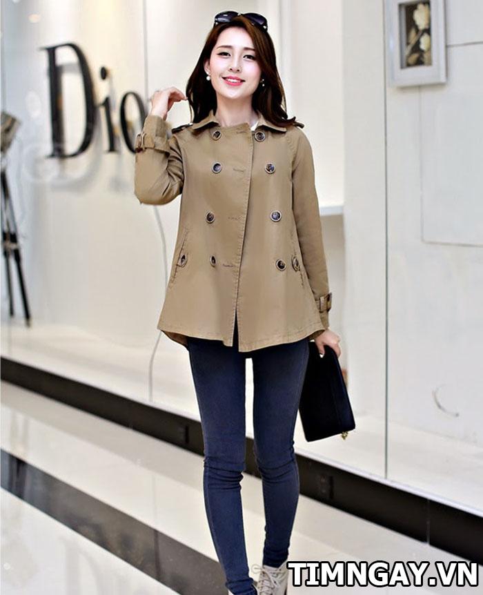 Áo khoác nữ kaki đẹp nhất mùa thu đông cho mọi cô nàng 3