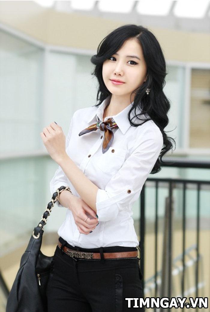 Các kiểu áo sơ mi nữ dễ thương, thời trang cho nàng công sở 2