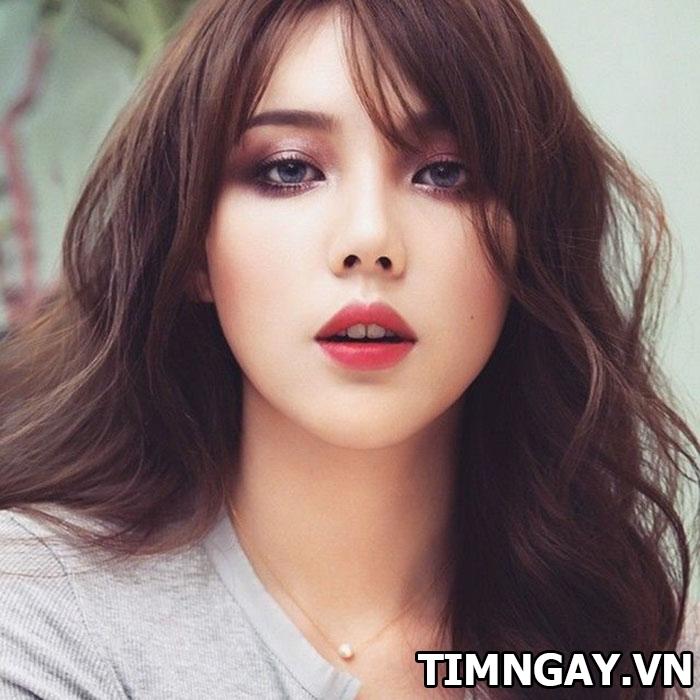 Mặt dài để tóc mái gì để dễ thương, xinh xắn như hot girl 2