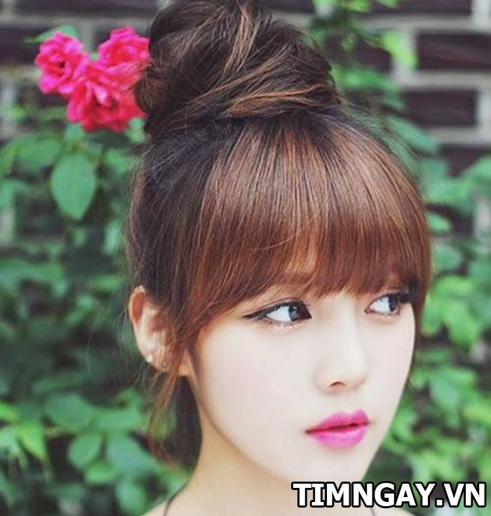 Mặt dài để tóc mái gì để dễ thương, xinh xắn như hot girl 3