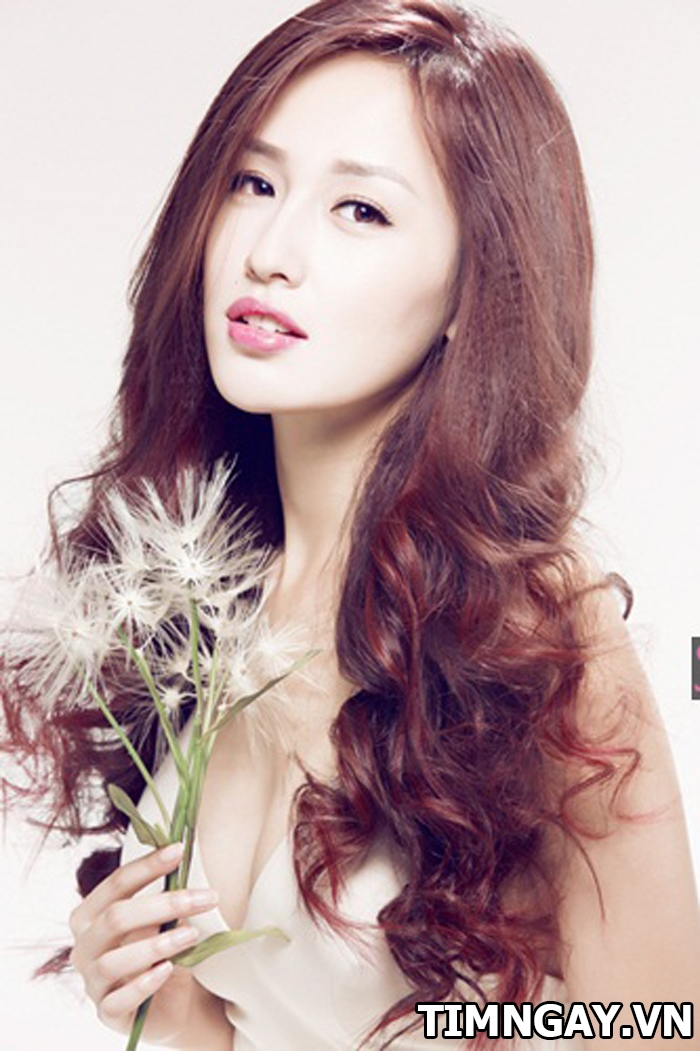 Nhuộm màu tóc nâu đồng phong cách như các sao Việt1