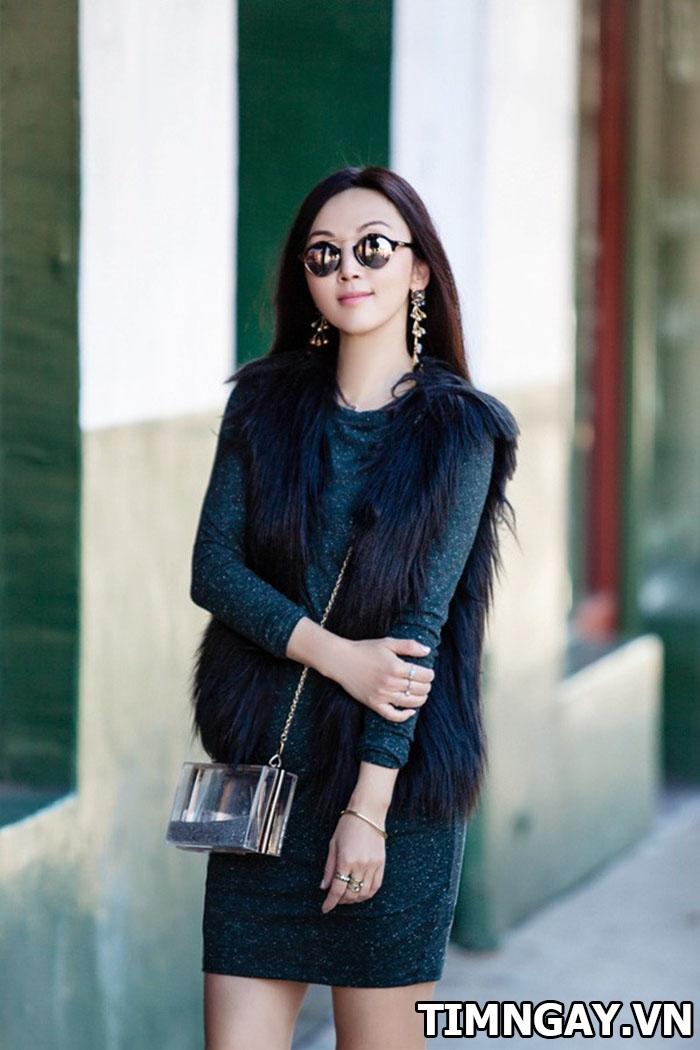 Thời trang mùa đông sành điệu với áo khoác lông, phối đồ hot nhất 3