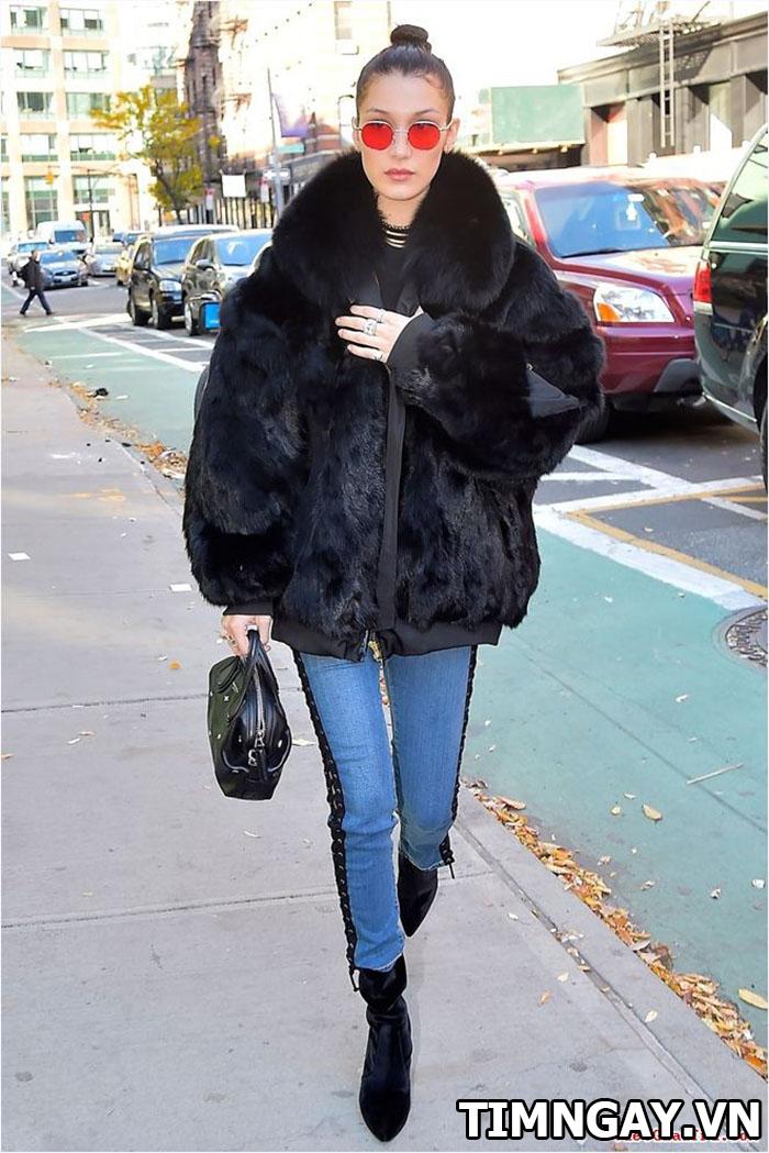 Thời trang mùa đông sành điệu với áo khoác lông, phối đồ hot nhất 5