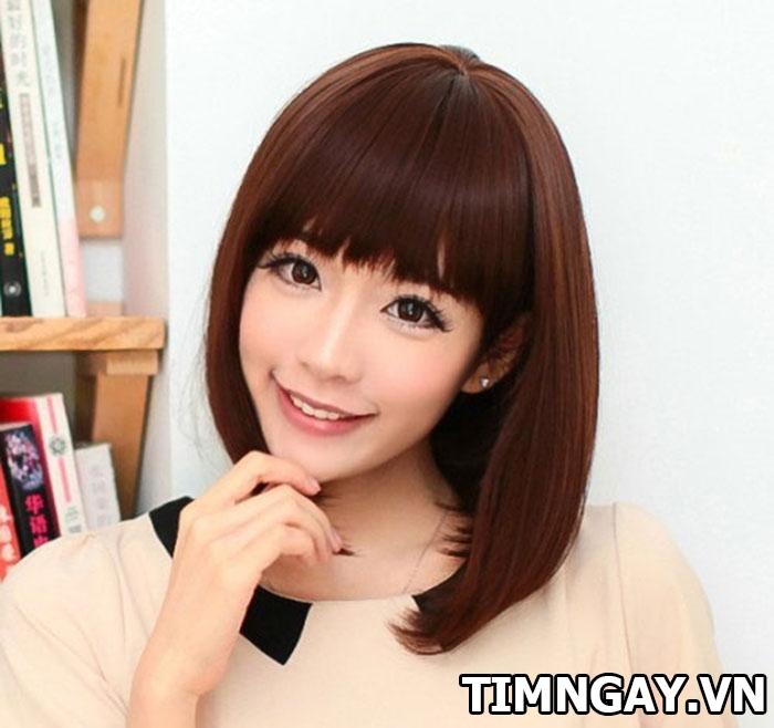 Tìm hiểu xu hướng tóc ngang vai đẹp cho mặt tròn 3