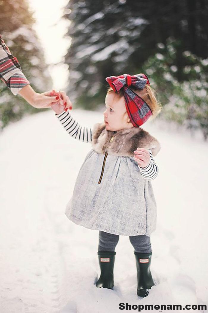 Chọn mua mẫu váy đẹp mặc mùa đông đẹp nhất cho bé gái xinh xắn 2018 1