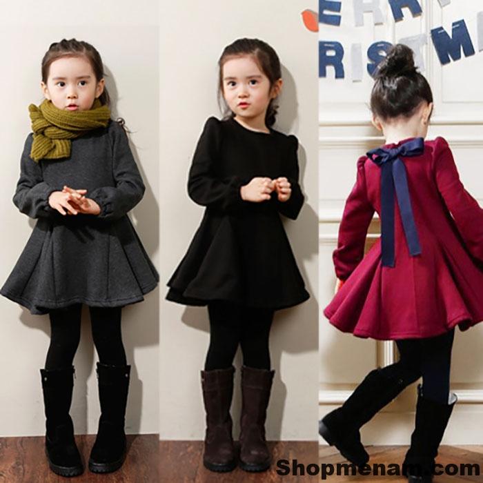 Chọn mua mẫu váy đẹp mặc mùa đông đẹp nhất cho bé gái xinh xắn 2018 6