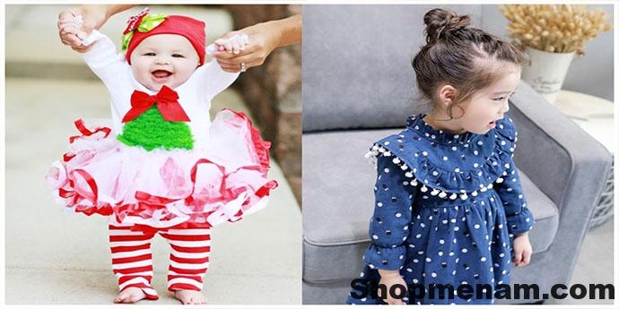 Chọn mua mẫu váy đẹp mặc mùa đông đẹp nhất cho bé gái xinh xắn 2018